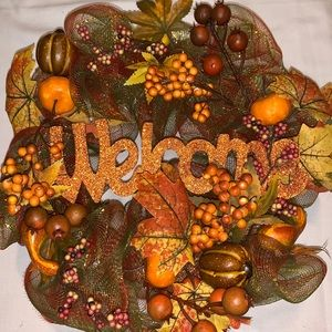 Fall Welcome Wreath in Good Condition